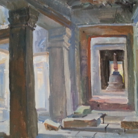 Artist view of Angkor Wat Temples